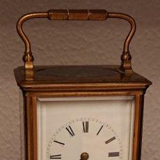 Relojes de carga manual: ANTIGUO RELOJ DE CARRUAJE CON SONERIA FUNCIONANDO. Lote 181512231