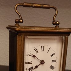 Relojes de carga manual: ANTIGUO RELOJ DE CARRUAJE FRANCÉS FUNCIONANDO. Lote 181514013
