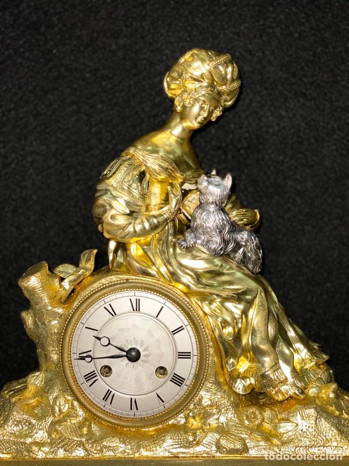 Relojes de carga manual: Reloj Imperio bronce dorado. Siglo XIX - Foto 3 - 181951450