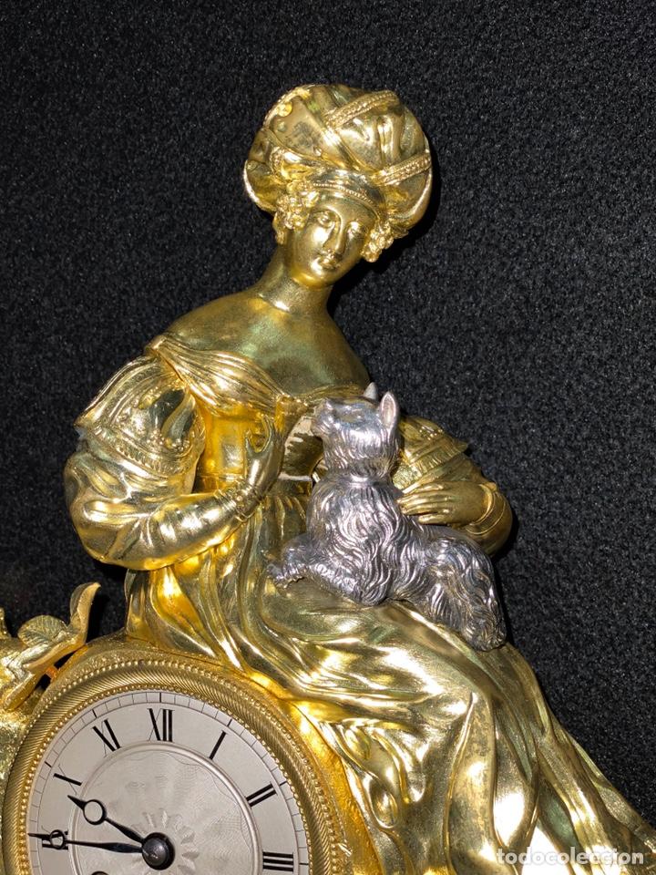 Relojes de carga manual: Reloj Imperio bronce dorado. Siglo XIX - Foto 5 - 181951450