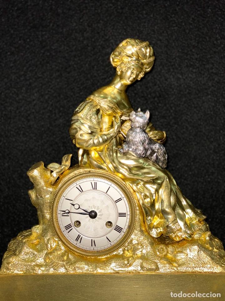 Relojes de carga manual: Reloj Imperio bronce dorado. Siglo XIX - Foto 6 - 181951450