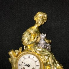 Relojes de carga manual: RELOJ IMPERIO BRONCE DORADO. SIGLO XIX. Lote 181951450