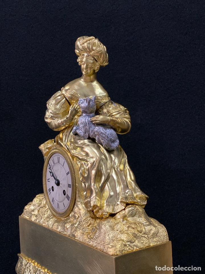Relojes de carga manual: Reloj Imperio bronce dorado. Siglo XIX - Foto 7 - 181951450