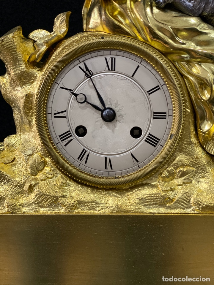 Relojes de carga manual: Reloj Imperio bronce dorado. Siglo XIX - Foto 10 - 181951450