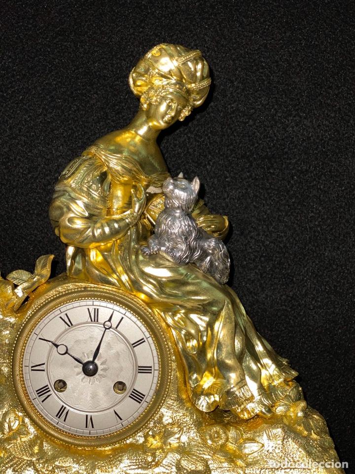 Relojes de carga manual: Reloj Imperio bronce dorado. Siglo XIX - Foto 13 - 181951450
