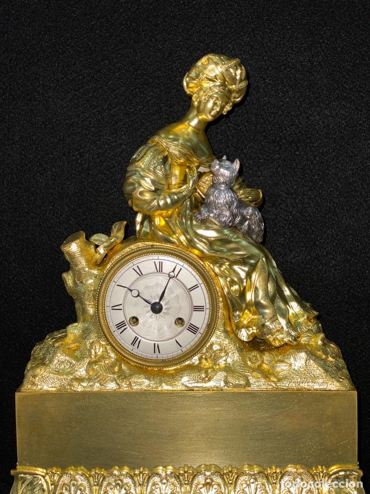 Relojes de carga manual: Reloj Imperio bronce dorado. Siglo XIX - Foto 2 - 181951450