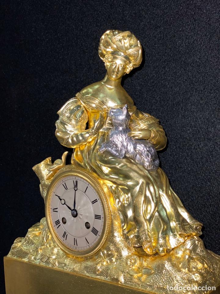 Relojes de carga manual: Reloj Imperio bronce dorado. Siglo XIX - Foto 16 - 181951450