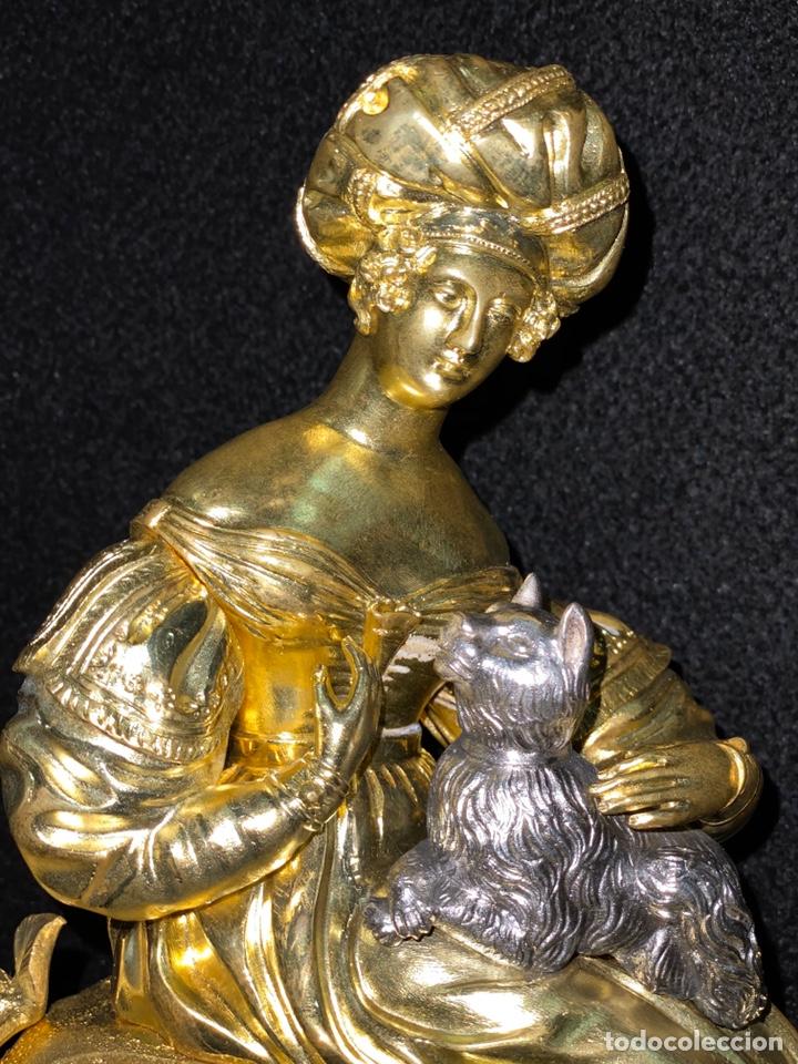 Relojes de carga manual: Reloj Imperio bronce dorado. Siglo XIX - Foto 18 - 181951450