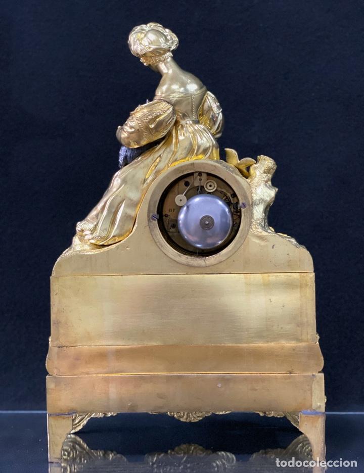 Relojes de carga manual: Reloj Imperio bronce dorado. Siglo XIX - Foto 20 - 181951450