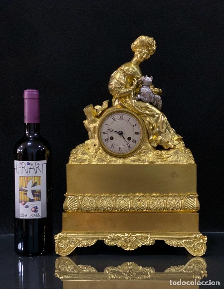 Relojes de carga manual: Reloj Imperio bronce dorado. Siglo XIX - Foto 4 - 181951450