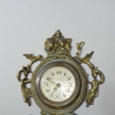 Relojes de carga manual: ANTIGUO RELOJ DE SOBREMESA DE BRONCE MECANICO. Lote 182088006