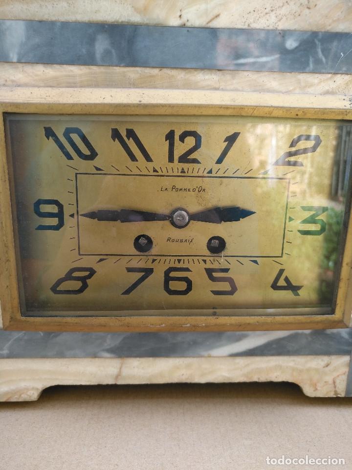 Relojes de carga manual: RELOJ SOBREMESA ESTILO DECO. - Foto 3 - 182666811