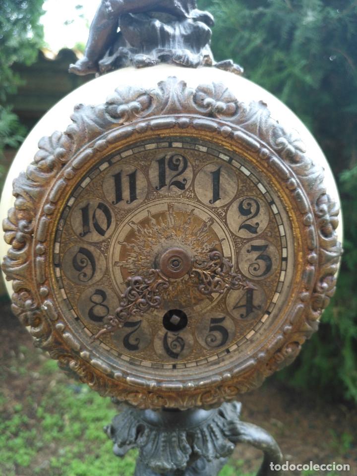 Relojes de carga manual: RELOJ CALAMINA CON PIÉ DE FIGURA FEMENINA. - Foto 3 - 182670076