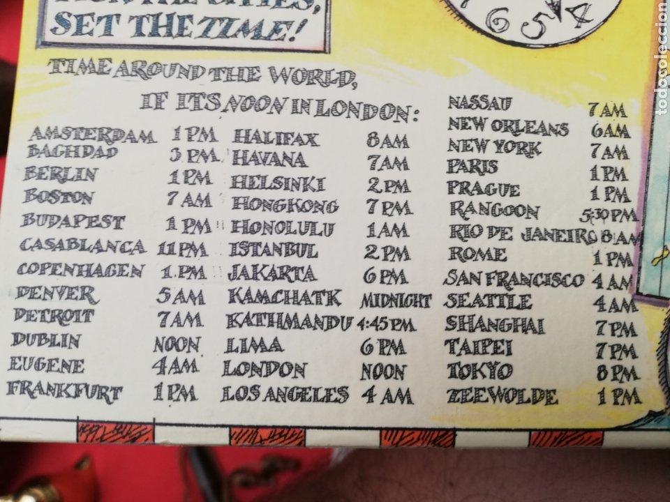Relojes de carga manual: Reloj... O relojes.. En caja cartón coloreada marca Americana.. Estados Unidos...horarios mundiales - Foto 3 - 182670932