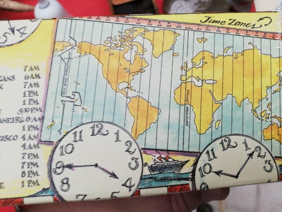 Relojes de carga manual: Reloj... O relojes.. En caja cartón coloreada marca Americana.. Estados Unidos...horarios mundiales - Foto 4 - 182670932