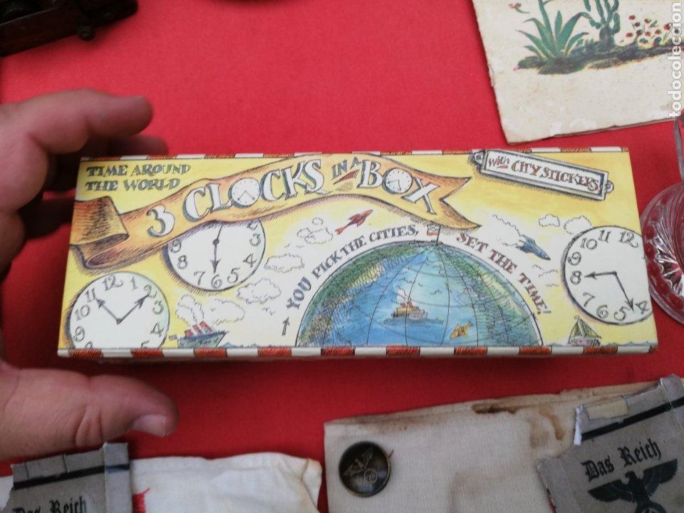 Relojes de carga manual: Reloj... O relojes.. En caja cartón coloreada marca Americana.. Estados Unidos...horarios mundiales - Foto 5 - 182670932
