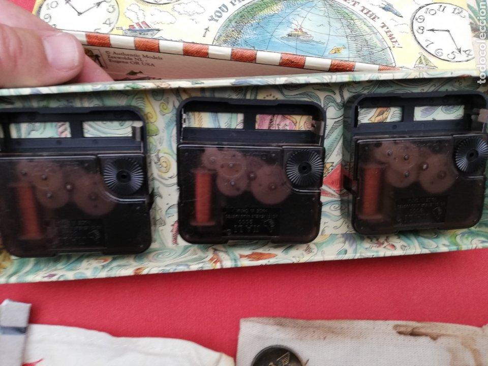 Relojes de carga manual: Reloj... O relojes.. En caja cartón coloreada marca Americana.. Estados Unidos...horarios mundiales - Foto 6 - 182670932