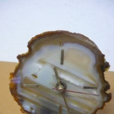 Relojes de carga manual: RELOJ SOBREMESA DE AGATA. Lote 182984246