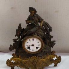 Relojes de carga manual: ANTIGUO RELOJ FRANCÉS DE CALAMINA SIGLO XIX MAQUINARIA PARÍS. Lote 183574008