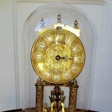 Relojes de carga manual: RELOJ KUNDO DE SOBRE MESA - EN URNA DE CRISTAL - FUNCIONA CON MECANISMO DE CUARZO. Lote 183814178