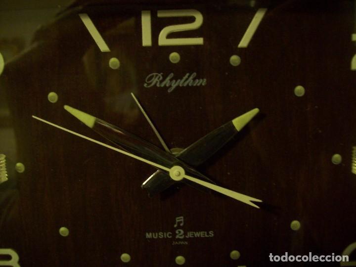 Relojes de carga manual: RELOJ RHYTHM DE JAPON - Foto 2 - 184174236