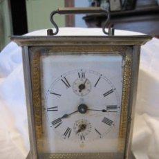 Relojes de carga manual: ANTIGUO RELOJ DESPERTADOR JUNGHANS. CON SU LLAVE. LATÓN PARCIALMENTE DORADO. 15 X13,5 X 10 CM. Lote 184256930