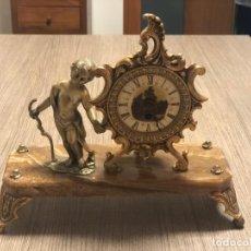 Relojes de carga manual: RELOJ DE COBRE CON UN ANGEL. Lote 184302296