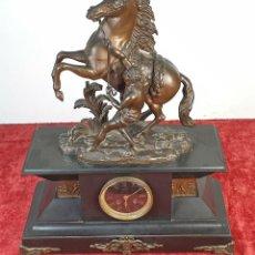 Relojes de carga manual: RELOJ DE REPISA. CABALLO DE MARLY. ESCULTURA EN BRONCE. RELOJ S. MARTI. SIGLO XIX. Lote 184326838