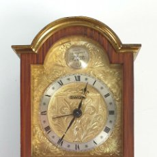 Relojes de carga manual: RELOJ DE SOBREMESA. SWIZA. TEMPUS FUGIT. BRONCE PINTADO COLOR MADERA. SIGLO XX.. Lote 184420880