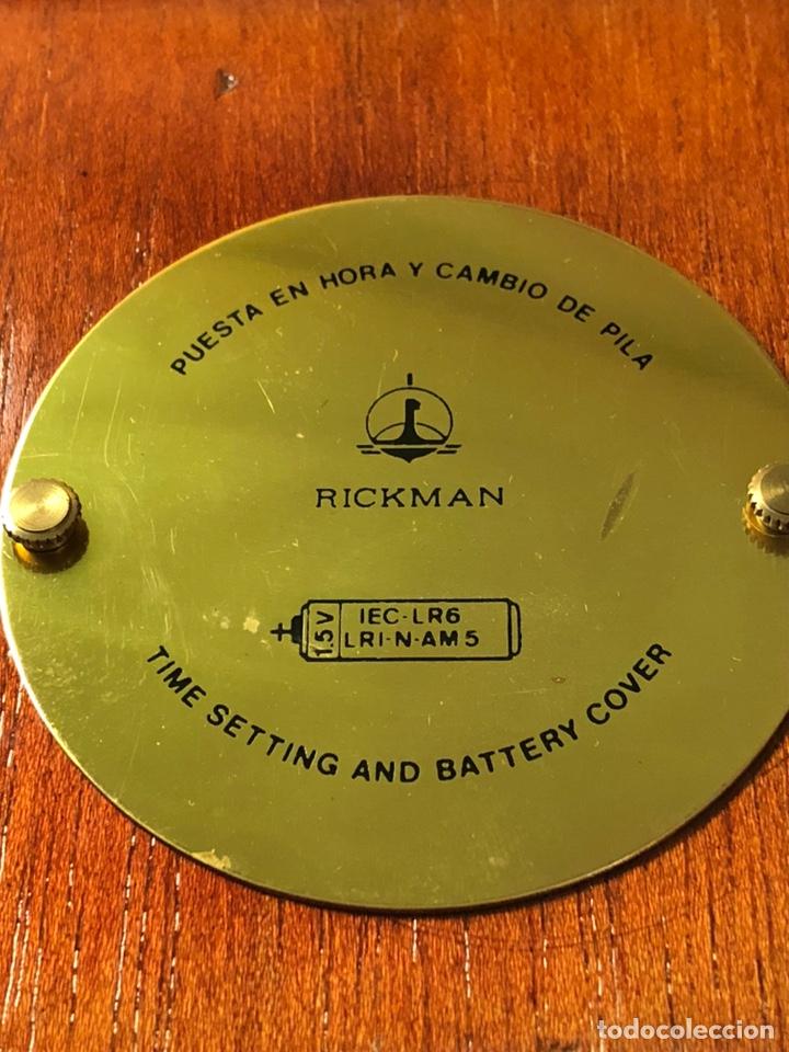 Relojes de carga manual: RICKMAN RELOJ TERMÓMETRO HIGRÓMETRO. MADE IN SPAIN. BIEN CONSERVADO. PRECIOSA CAJA MADERA Y LATÓN - Foto 6 - 184807103