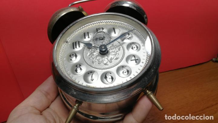 Relojes de carga manual: Reloj despertador de la guerra civil española, marca EL AGUILA, años 30 - Foto 11 - 184818558