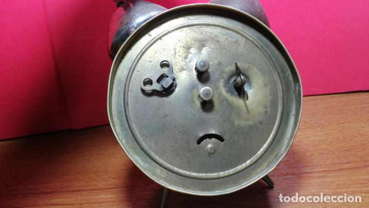 Relojes de carga manual: Reloj despertador de la guerra civil española, marca EL AGUILA, años 30 - Foto 18 - 184818558