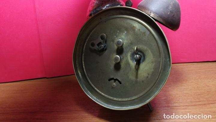 Relojes de carga manual: Reloj despertador de la guerra civil española, marca EL AGUILA, años 30 - Foto 23 - 184818558