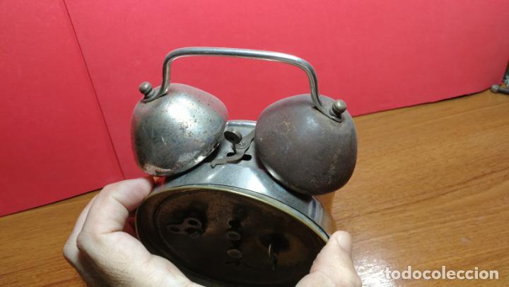 Relojes de carga manual: Reloj despertador de la guerra civil española, marca EL AGUILA, años 30 - Foto 32 - 184818558