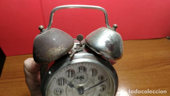 Relojes de carga manual: Reloj despertador de la guerra civil española, marca EL AGUILA, años 30 - Foto 39 - 184818558