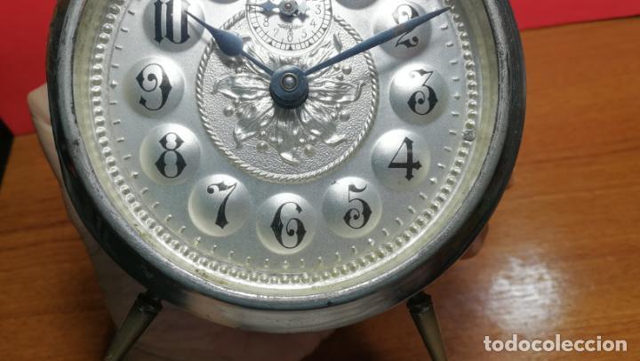 Relojes de carga manual: Reloj despertador de la guerra civil española, marca EL AGUILA, años 30 - Foto 42 - 184818558