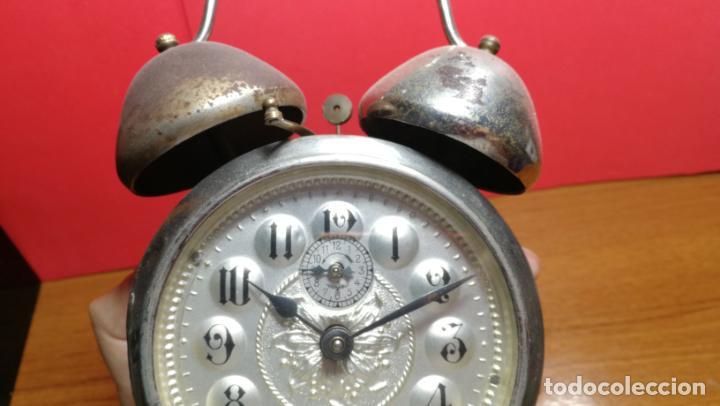 Relojes de carga manual: Reloj despertador de la guerra civil española, marca EL AGUILA, años 30 - Foto 43 - 184818558