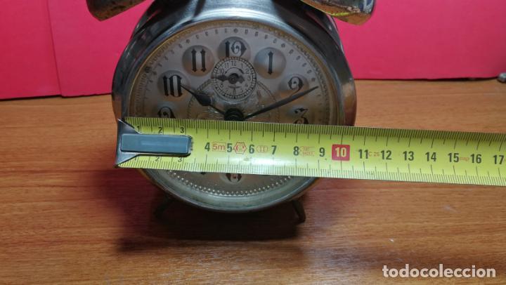 Relojes de carga manual: Reloj despertador de la guerra civil española, marca EL AGUILA, años 30 - Foto 58 - 184818558