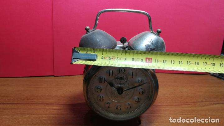 Relojes de carga manual: Reloj despertador de la guerra civil española, marca EL AGUILA, años 30 - Foto 59 - 184818558