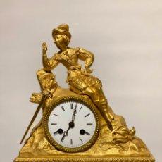 Relojes de carga manual: RELOJ DE ESTILO IMPERIO. BRONCE DORADO. Lote 185911257