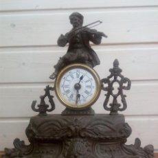 Relojes de carga manual: RELOJ DESPERTADOR DE CALAMINA SIGLO XIX, FUNCIONANDO. Lote 186044241