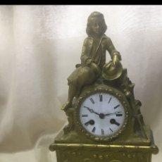 Relojes de carga manual: RELOJ IMPERIO BRONCE DORADO. PRIMERA MITAD SIGLO XIX. FRANCIA. Lote 186057670