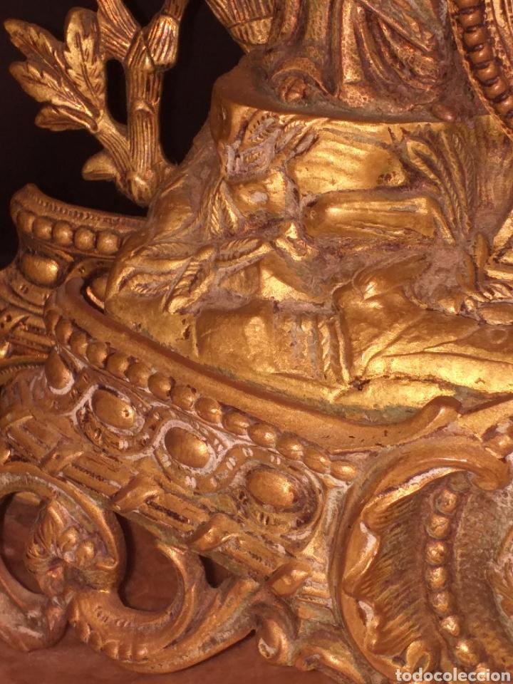 Relojes de carga manual: Reloj de bronce pegada en mármol - Foto 5 - 186189853