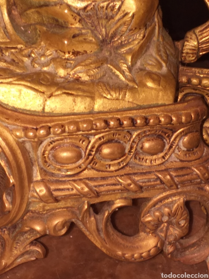 Relojes de carga manual: Reloj de bronce pegada en mármol - Foto 9 - 186189853