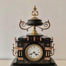 Relojes de carga manual: RELOJ DE MARMOL Y BRONCE NAPOLEON III. Lote 190973791