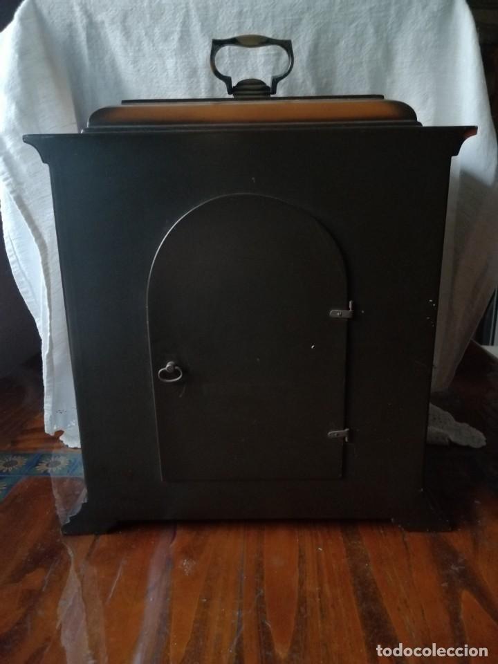 Relojes de carga manual: ANTIGUO RELOJ DE SOBREMESA TEMPUS FUGIT.SONIDO TIPO WESTMINSTER .TOCA TAMBIÉN LOS CUARTOS. - Foto 11 - 191318551