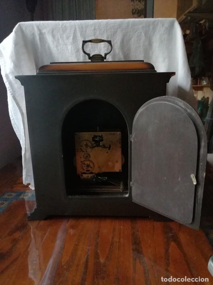 Relojes de carga manual: ANTIGUO RELOJ DE SOBREMESA TEMPUS FUGIT.SONIDO TIPO WESTMINSTER .TOCA TAMBIÉN LOS CUARTOS. - Foto 12 - 191318551