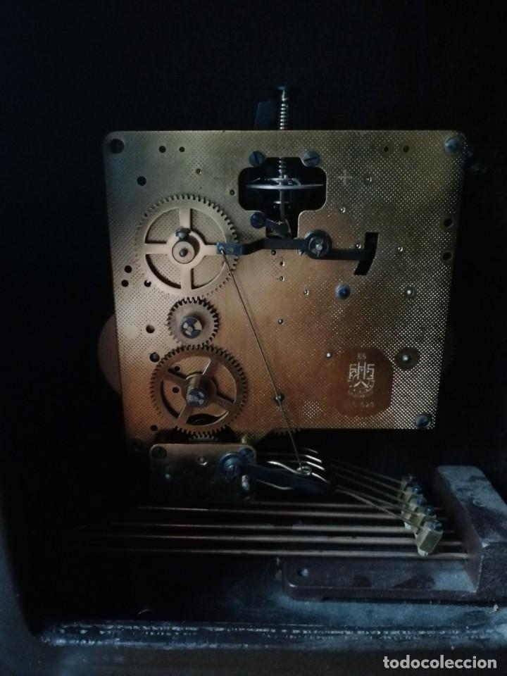 Relojes de carga manual: ANTIGUO RELOJ DE SOBREMESA TEMPUS FUGIT.SONIDO TIPO WESTMINSTER .TOCA TAMBIÉN LOS CUARTOS. - Foto 13 - 191318551