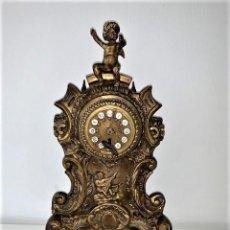 Relojes de carga manual: RELOJ BRONCE BASE DE MARMOL, CARGA MANUAL. Lote 191437221