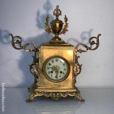 Relojes de carga manual: RELOJ MAQUINQRIA PARIS SIGLO XIX , BRONCE FIRMADO Y NUMERADO. Lote 191759482